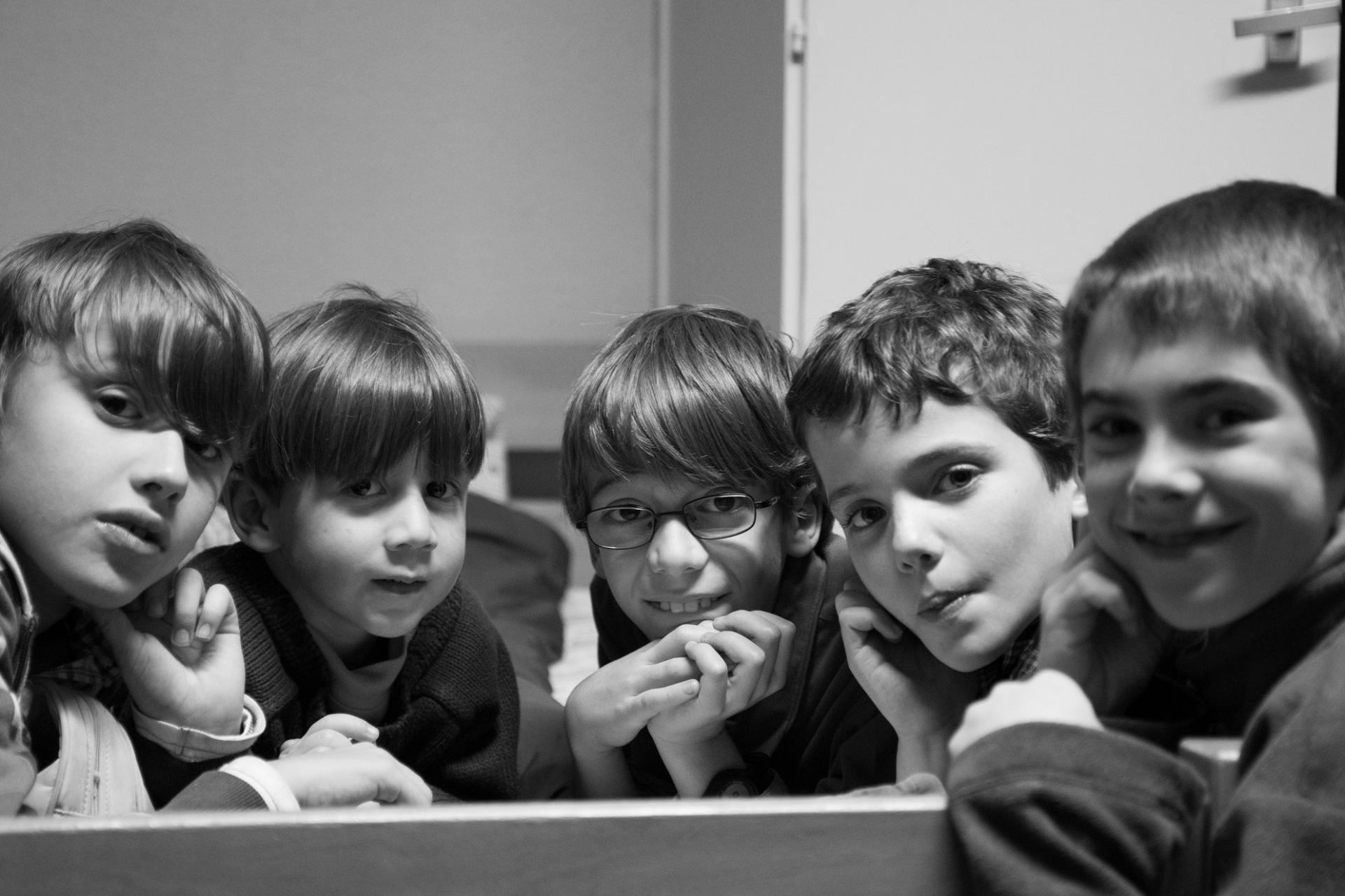 Mathis, Siméon, Raphaël, Armand et Samuel