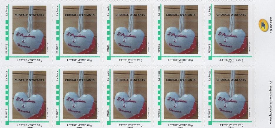 Carnet de 10 timbres reduite