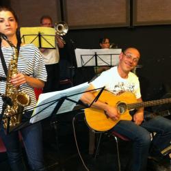 Répétition musiciens. Céline et Nicolas