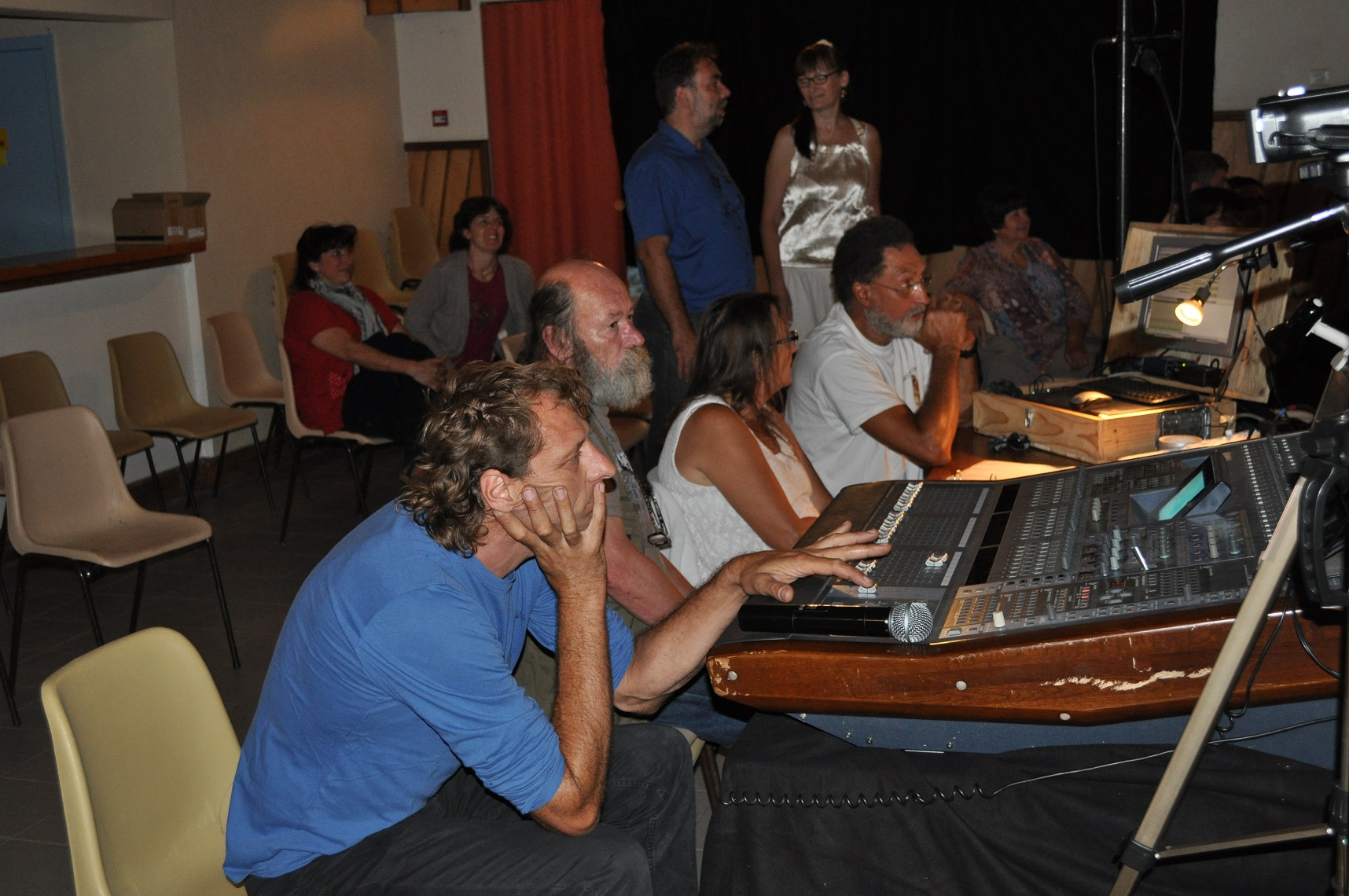 Les techniciens : Eric, Bernard, Anne & Jean